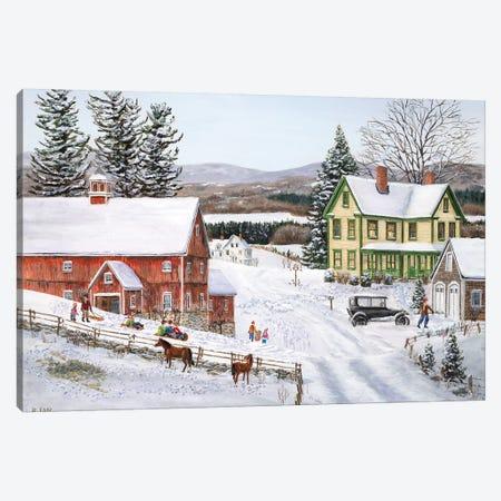 New Snow Canvas Print #BOF86} by Bob Fair Canvas Art