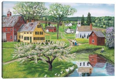 Apple Blossom Time Canvas Art Print