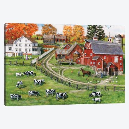 Our Dairy Farm Canvas Print #BOF91} by Bob Fair Canvas Art