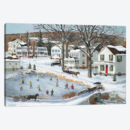 Our Town Long Ago Canvas Print #BOF93} by Bob Fair Canvas Wall Art