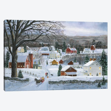 Peaceful Valley Road 3-Piece Canvas #BOF97} by Bob Fair Art Print
