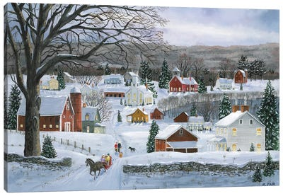 Peaceful Valley Road Canvas Art Print