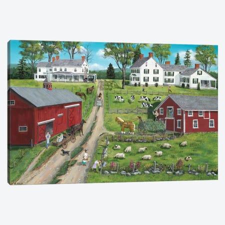 Picking Flowers Canvas Print #BOF98} by Bob Fair Canvas Art