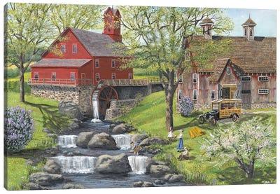 Picnic at the Mill Canvas Art Print