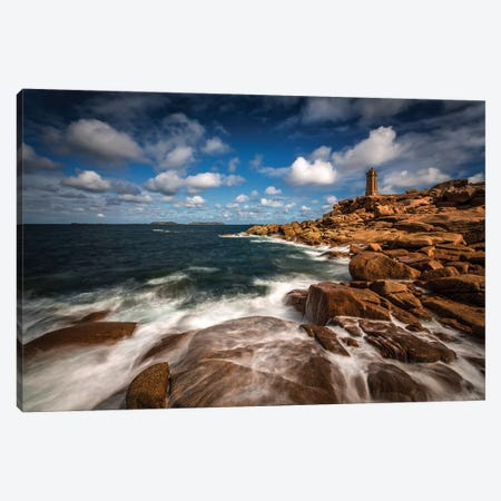 Le Phare de Ploumanac'h Canvas Print #BOG1} by Sus Bogaerts Canvas Art