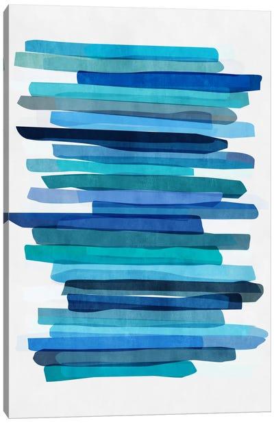 Blue Stripes I Canvas Art Print
