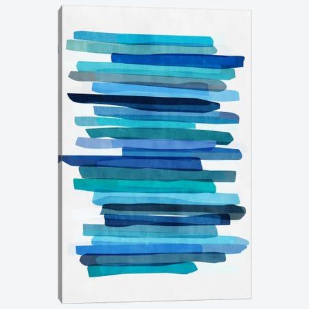 Blue Stripes I 3-Piece Canvas #BOH100} by Mareike Böhmer Canvas Art Print