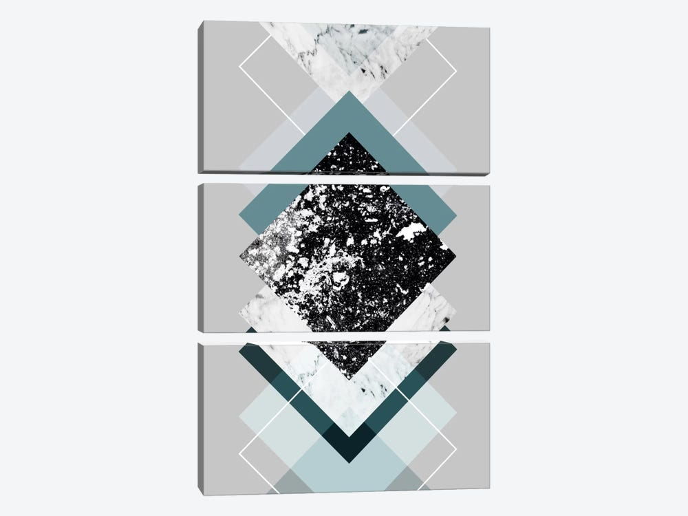Geometric Textures VIII by Mareike Böhmer 3-piece Canvas Art