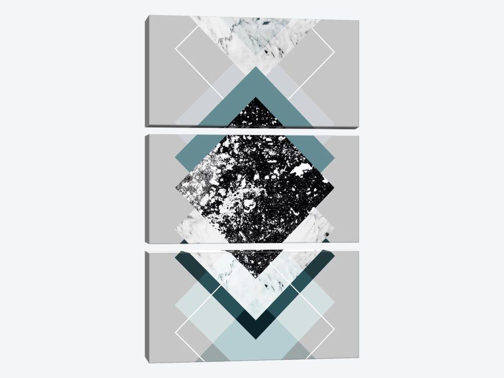 Geometric Textures VIII by Mareike Böhmer 3-piece Canvas Art