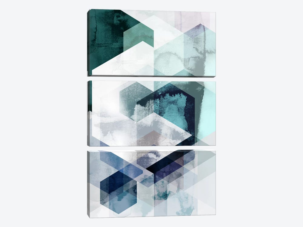 Graphic CLXV by Mareike Böhmer 3-piece Canvas Artwork