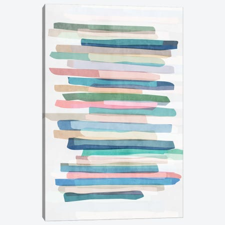 Pastel Stripes I Canvas Print #BOH111} by Mareike Böhmer Canvas Art