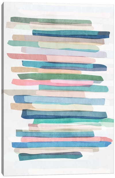 Pastel Stripes I Canvas Art Print
