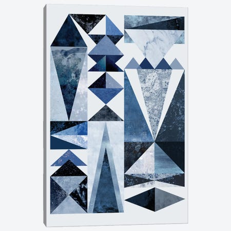 Blue Shapes Canvas Print #BOH116} by Mareike Böhmer Art Print