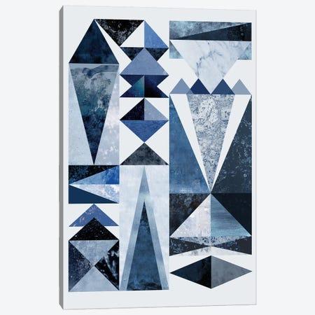 Blue Shapes Canvas Print #BOH116} by Mareike Böhmer Art Print