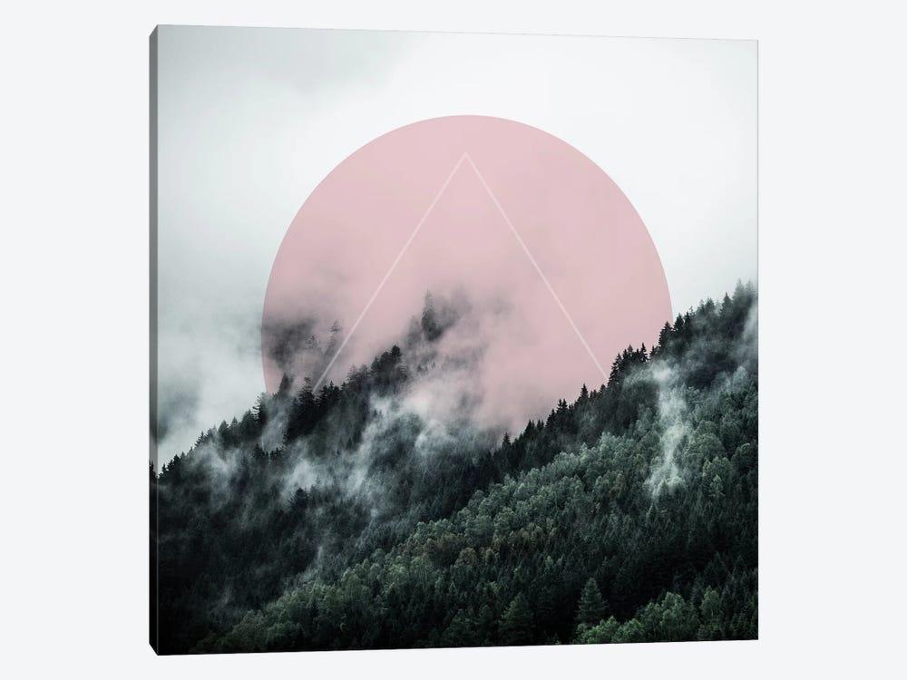 Foggy Woods II by Mareike Böhmer 1-piece Canvas Wall Art
