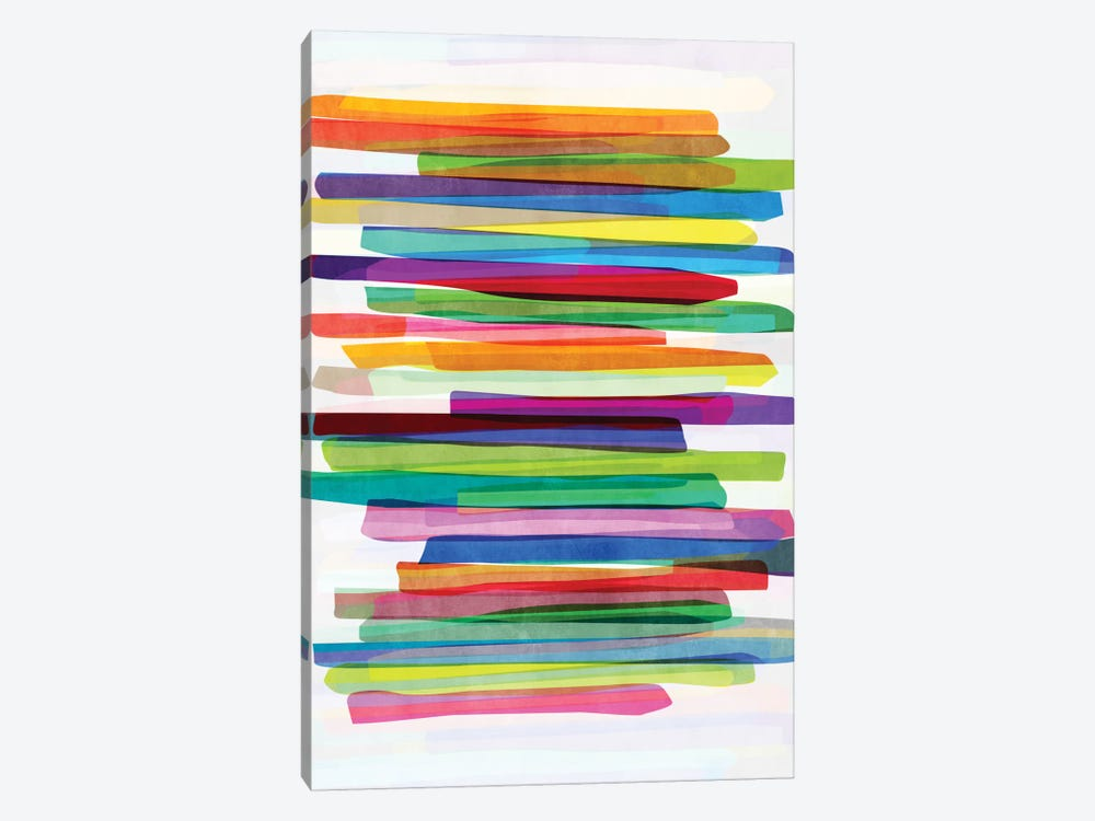 Colorful Stripes I by Mareike Böhmer 1-piece Canvas Art