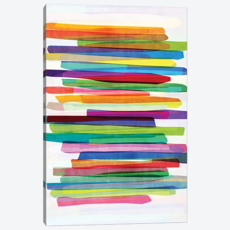 Colorful Stripes I Canvas Print #BOH11} by Mareike Böhmer Canvas Wall Art