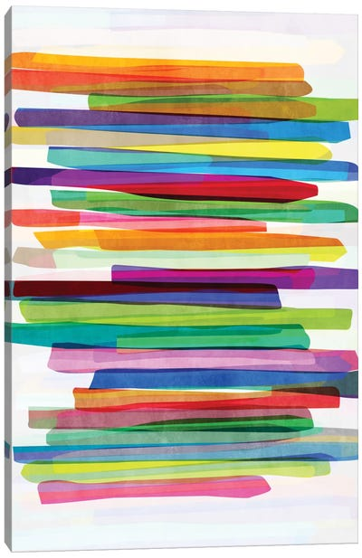 Colorful Stripes I Canvas Art Print