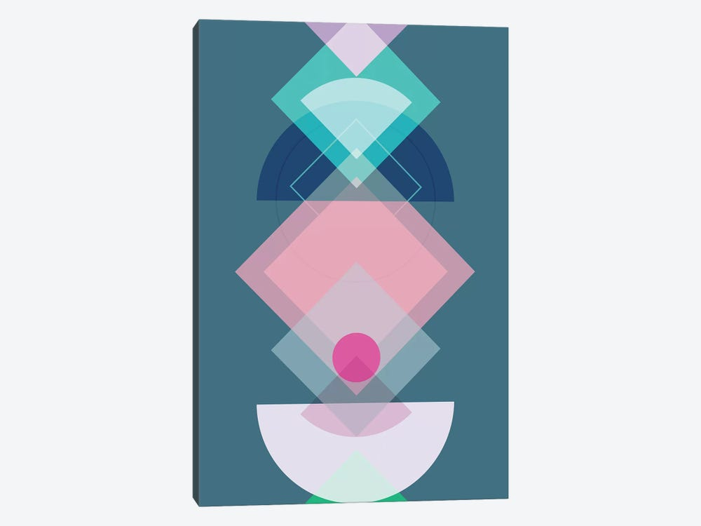 Geometric Play I by Mareike Böhmer 1-piece Canvas Art Print