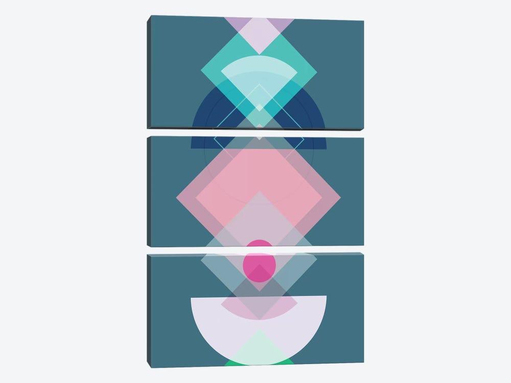 Geometric Play I by Mareike Böhmer 3-piece Art Print