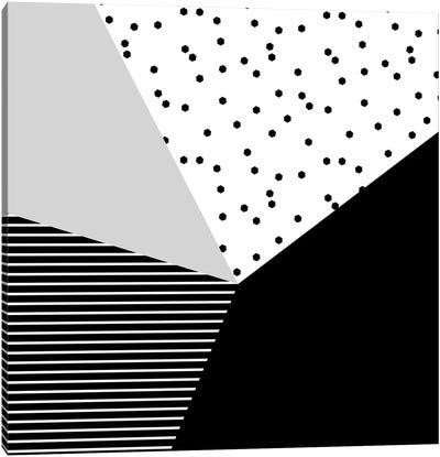 Geometry Blocks X Canvas Art Print