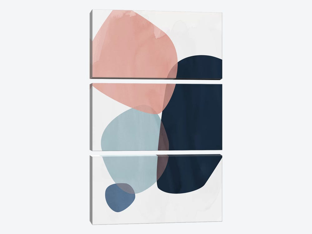 Graphic CL.H by Mareike Böhmer 3-piece Canvas Print