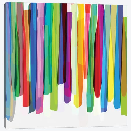 Colorful Stripes II Canvas Print #BOH12} by Mareike Böhmer Canvas Artwork