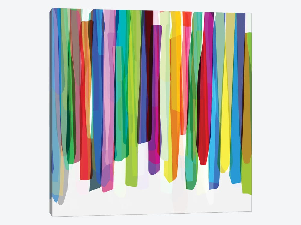 Colorful Stripes II by Mareike Böhmer 1-piece Art Print