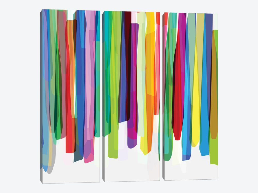 Colorful Stripes II by Mareike Böhmer 3-piece Art Print