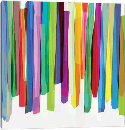 Colorful Stripes II Canvas Art Print