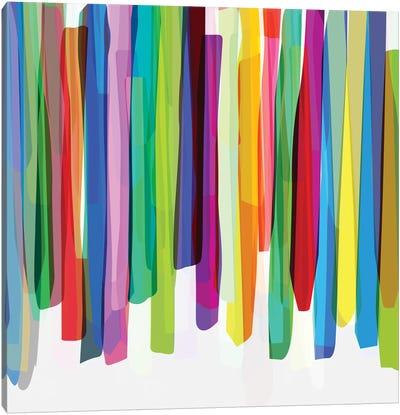 Colorful Stripes II Canvas Art Print