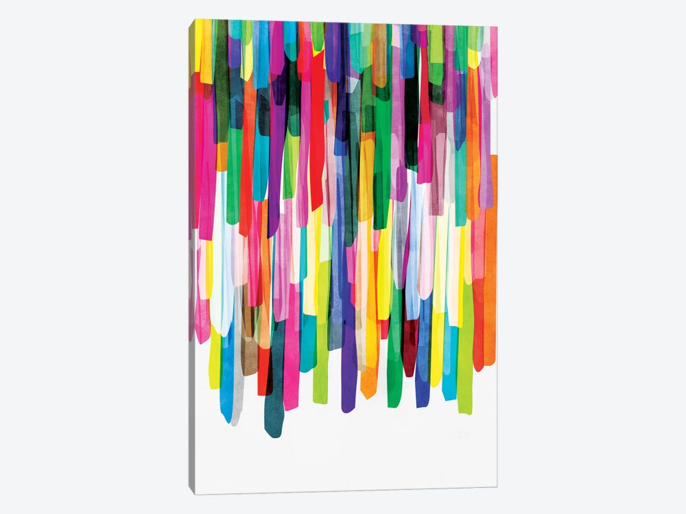 Colorful Stripes IV by Mareike Böhmer 1-piece Canvas Artwork