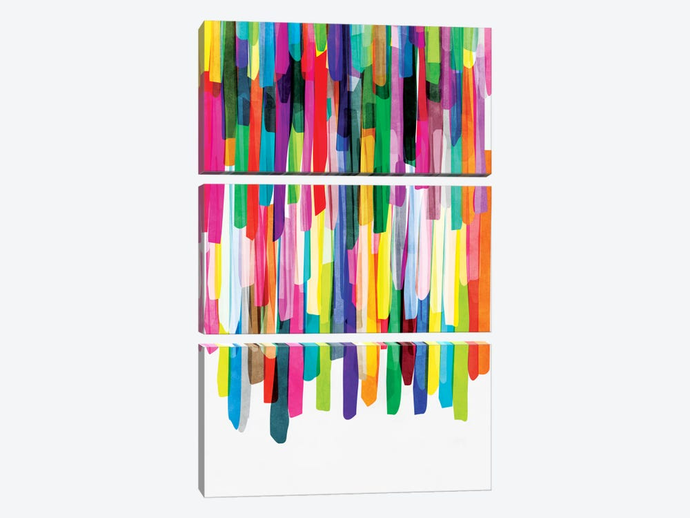 Colorful Stripes IV by Mareike Böhmer 3-piece Canvas Artwork