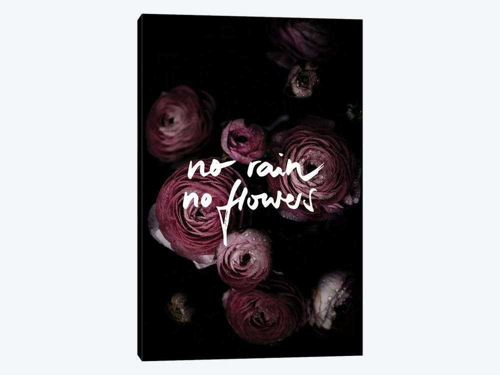 No Rain No Flowers by Mareike Böhmer 1-piece Canvas Print