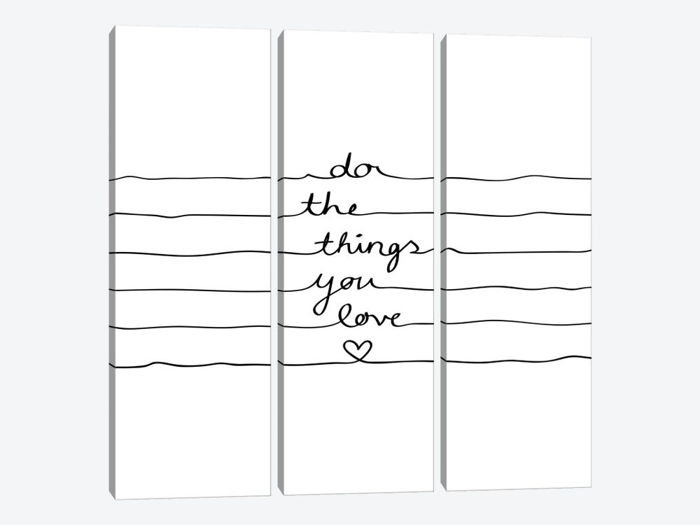 Do The Things You Love by Mareike Böhmer 3-piece Canvas Print