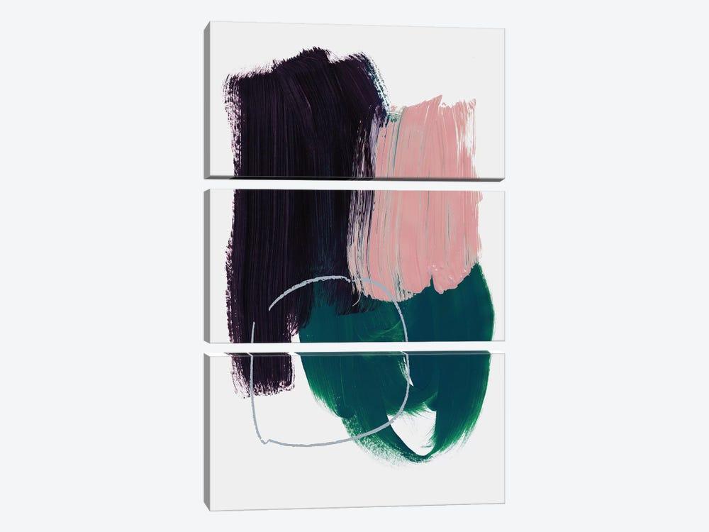Abstract Brush Strokes X by Mareike Böhmer 3-piece Canvas Wall Art
