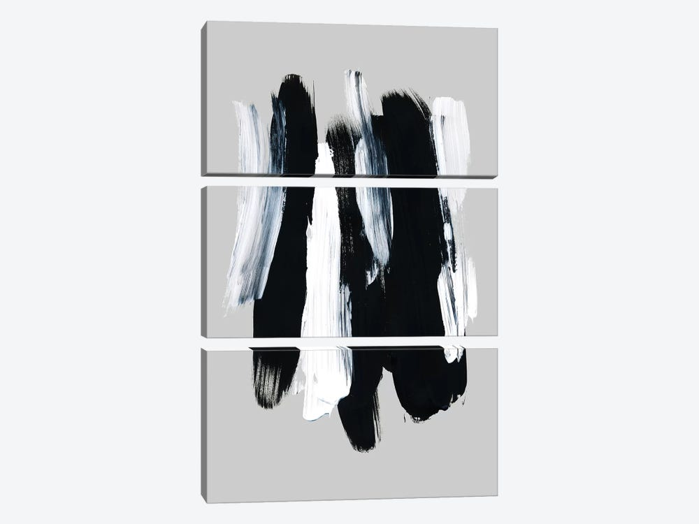 Abstract Brush Strokes XII by Mareike Böhmer 3-piece Canvas Art