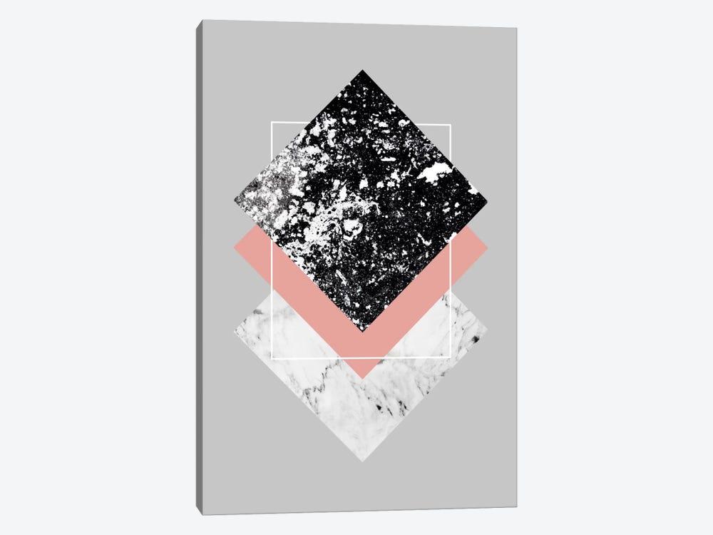 Geometric Textures I by Mareike Böhmer 1-piece Canvas Wall Art