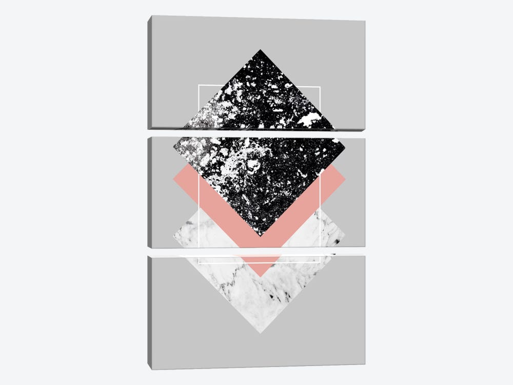 Geometric Textures I by Mareike Böhmer 3-piece Canvas Artwork