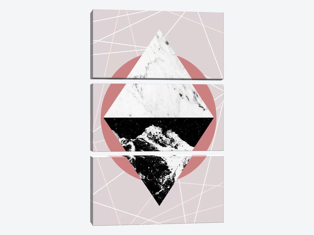 Geometric Textures III by Mareike Böhmer 3-piece Canvas Art