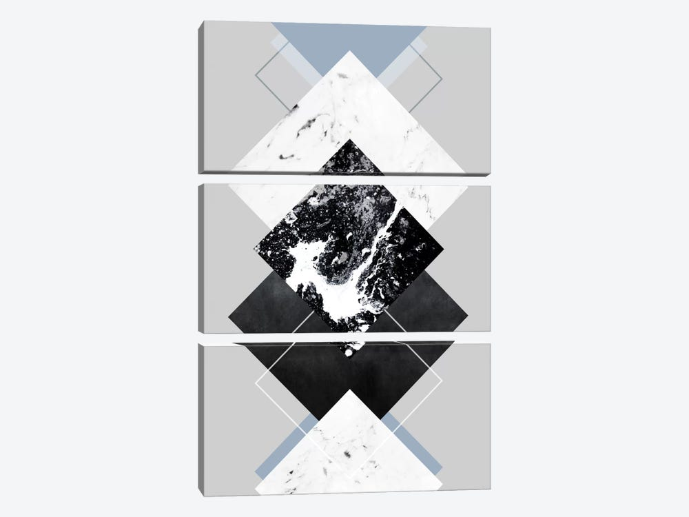 Geometric Textures V by Mareike Böhmer 3-piece Canvas Art