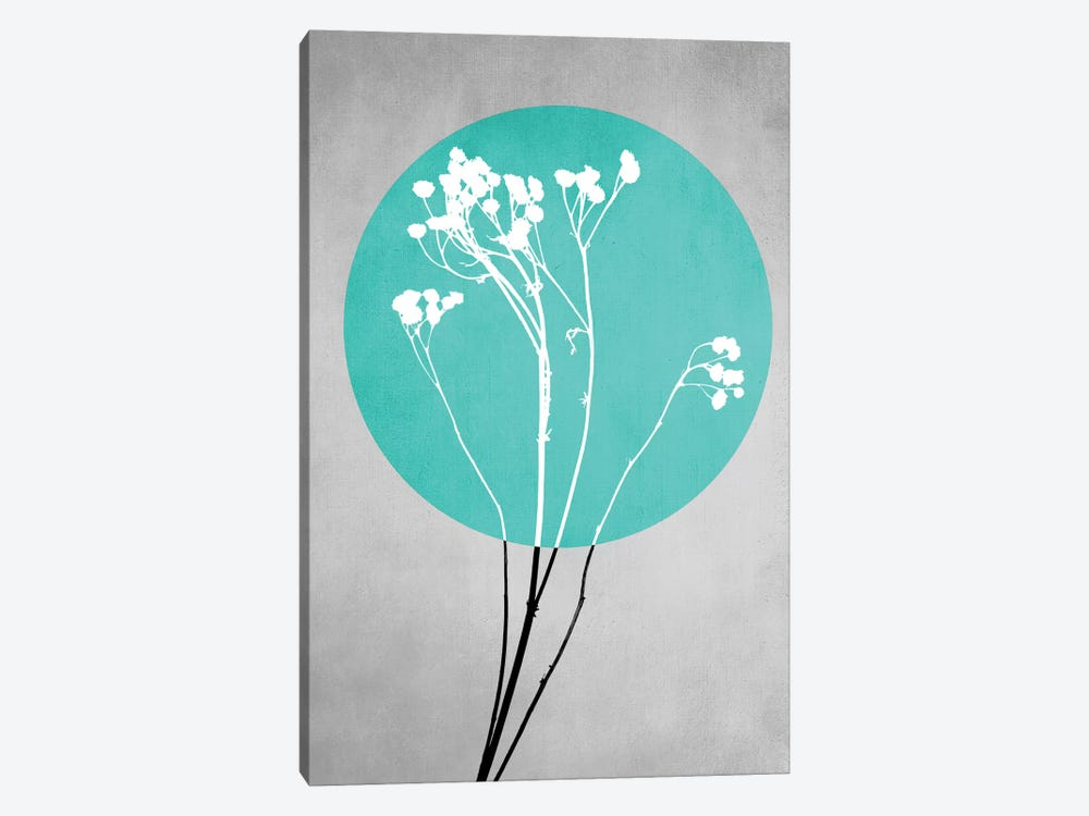 Abstract Flowers I by Mareike Böhmer 1-piece Canvas Wall Art