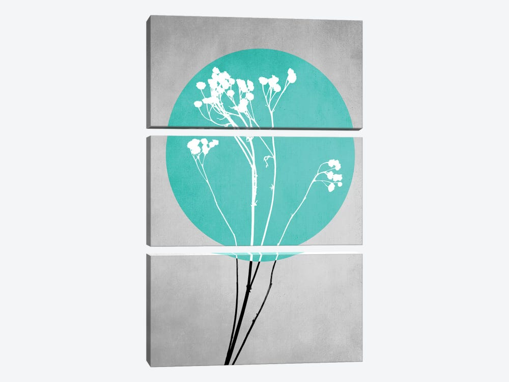 Abstract Flowers I by Mareike Böhmer 3-piece Canvas Art