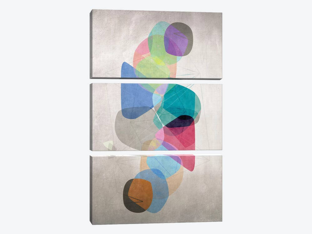 Graphic C by Mareike Böhmer 3-piece Canvas Artwork