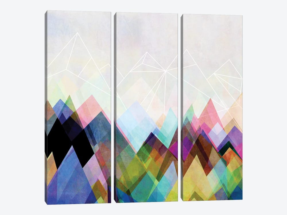 Graphic CIV by Mareike Böhmer 3-piece Canvas Wall Art
