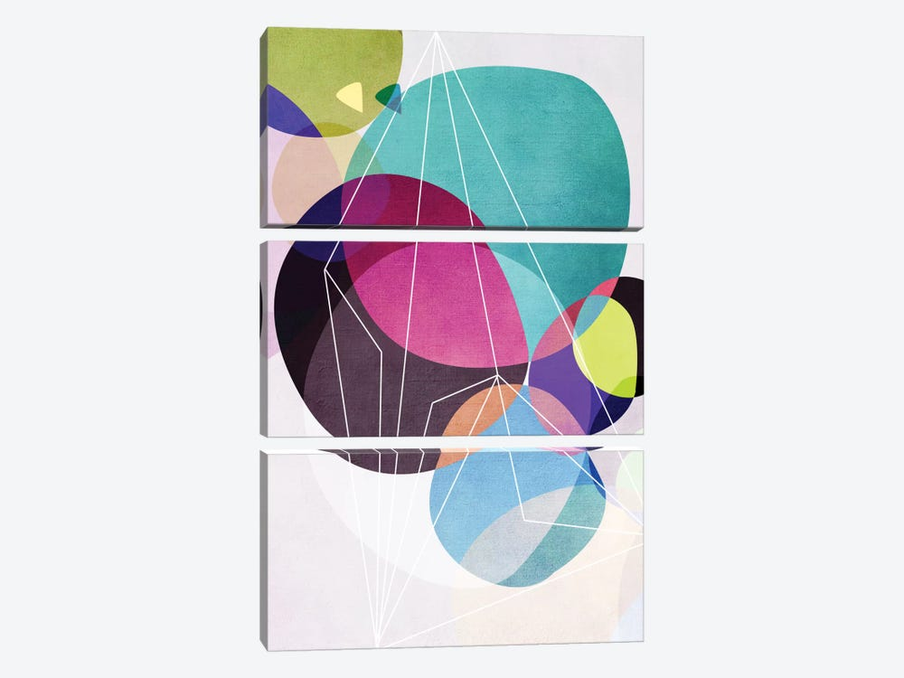 Graphic CLXIX by Mareike Böhmer 3-piece Canvas Wall Art