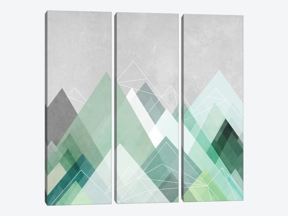 Graphic CVII by Mareike Böhmer 3-piece Canvas Print