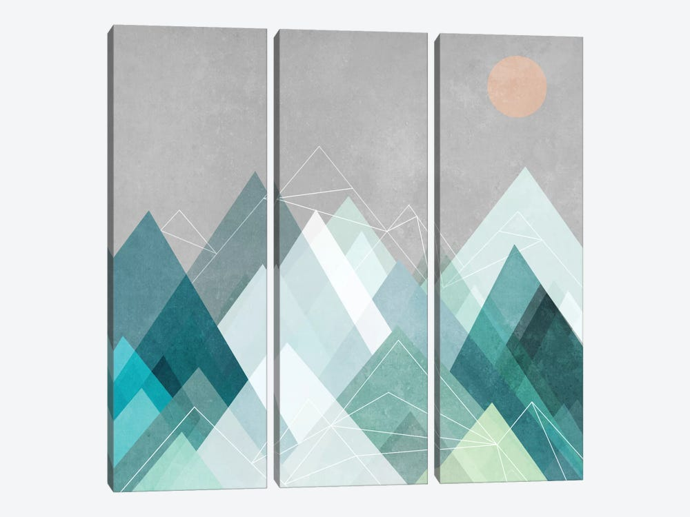 Graphic CVII.X by Mareike Böhmer 3-piece Canvas Artwork