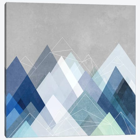 Graphic CVII.X In Blue Canvas Print #BOH34} by Mareike Böhmer Canvas Art Print