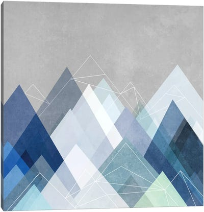 Graphic CVII.X In Blue Canvas Art Print